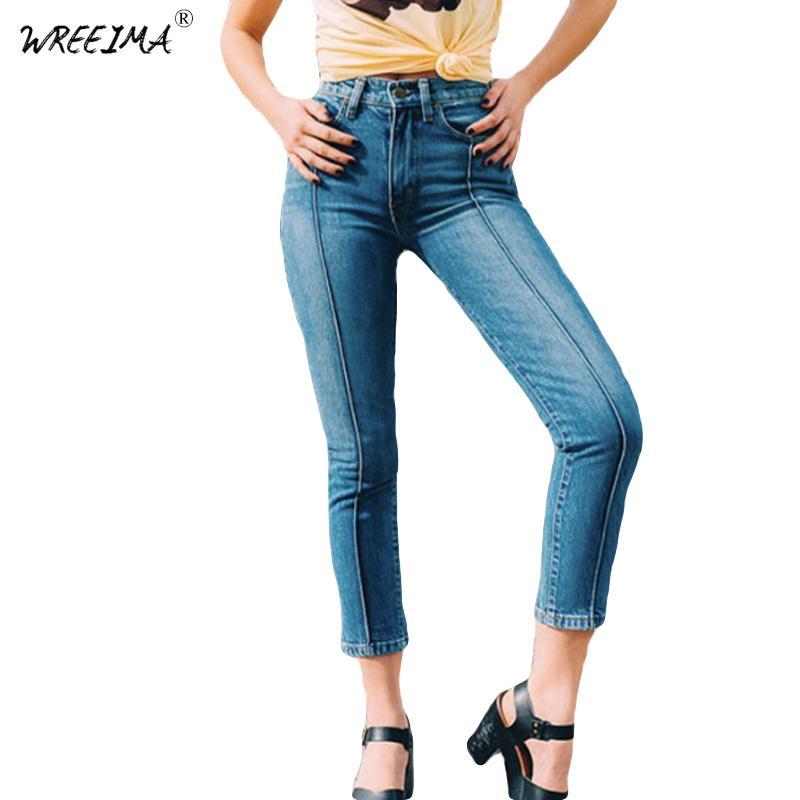 Compre Ropa Para Mujer Skinny Tobillo Longitud Pantalones Pantalones De Mezclilla Lapiz Casual Sexy Elastico Cintura Alta Es Femme Pantalones Jeans Mujer A 36 16 Del Sadlyric Dhgate Com