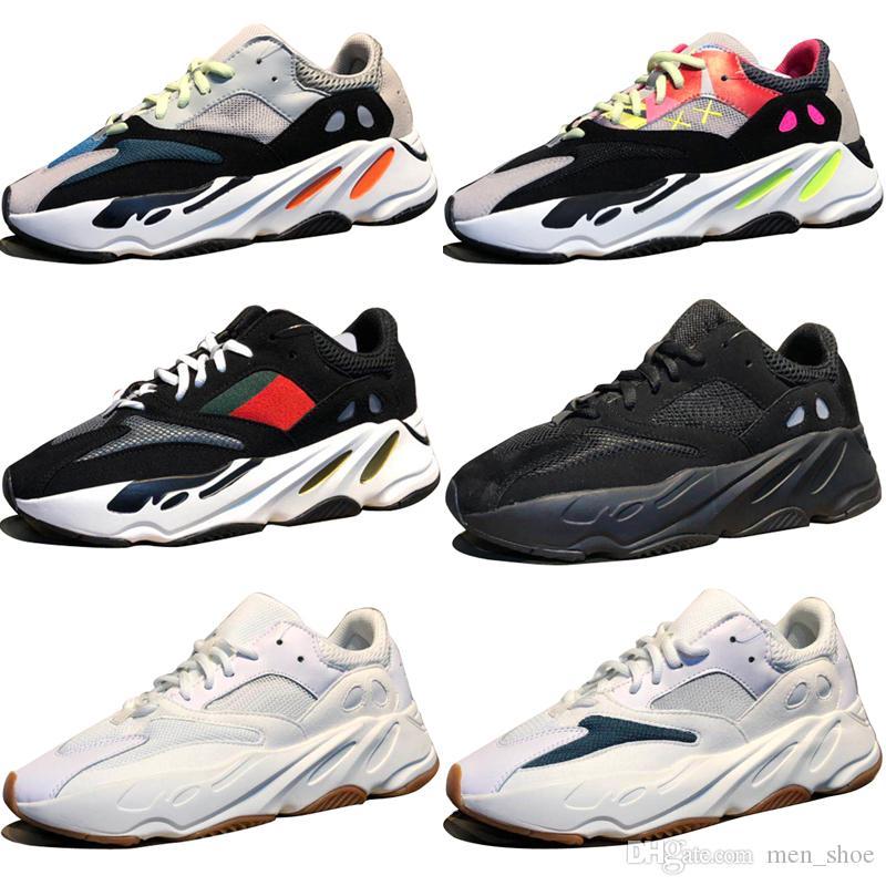 خصم كاني ويست ويف عداء 700 أحذية رمادي الاحذية للرجال 700 ثانية إمرأة رجل الرياضة رياضية المدربين في الهواء الطلق مصمم السببية