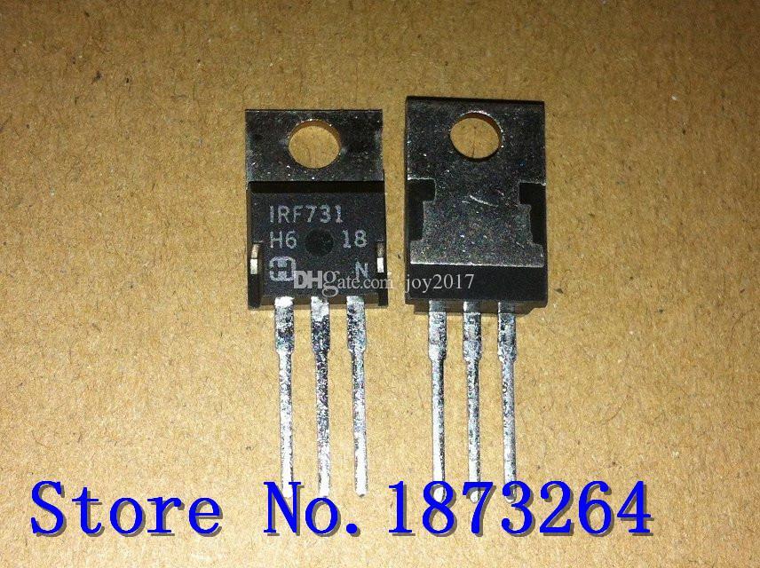Frete grátis efeito de campo transistor IRF731 TO220 Novo e original 10 PÇS / LOTE
