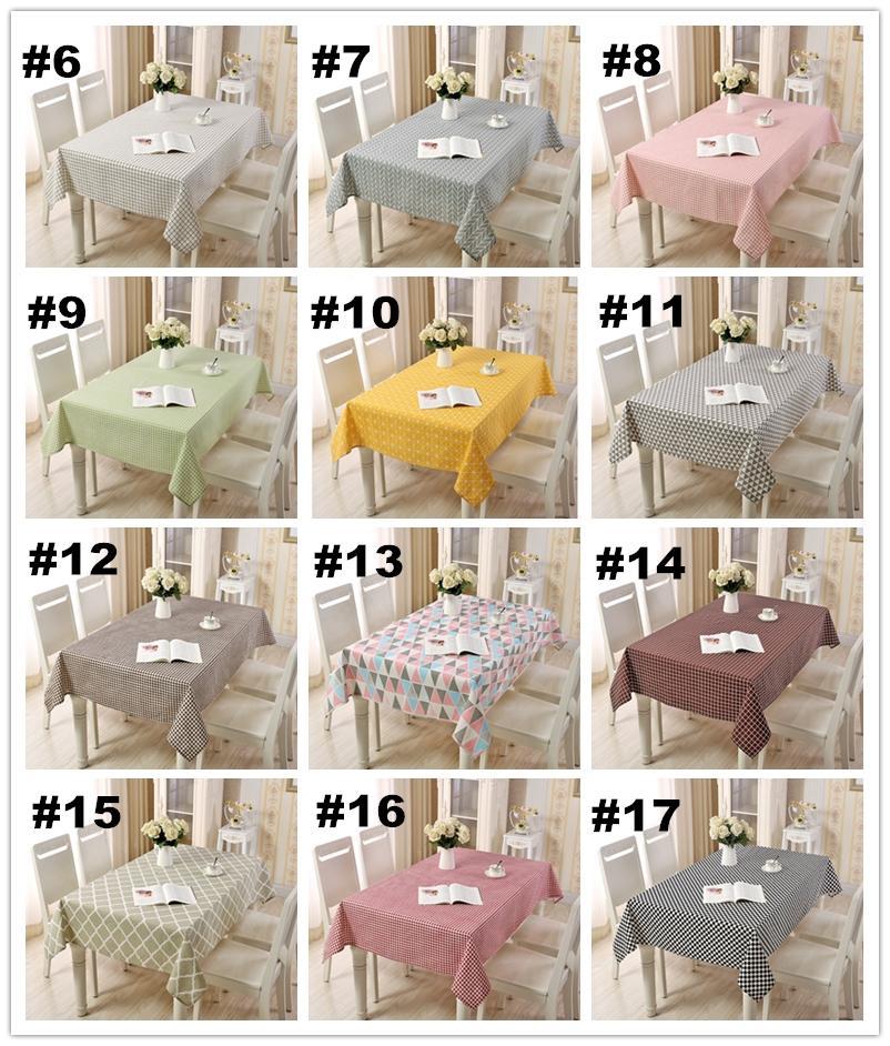 Striscia di 17 colori 10 Striscia di cotone Quadrato in cotone e lino mescolato tovaglia da tavola copre i runner da tavolo