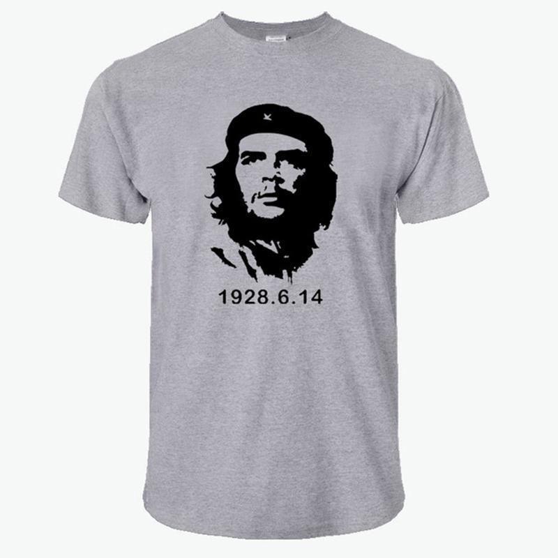 2018 Moda Verão Che Guevara T Shirt Homens Algodão Legal de Alta Qualidade Impresso Top Design Estilo Nova Moda de Manga Curta