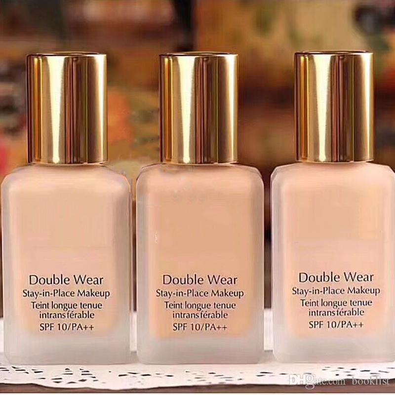 Double Wear Foundation Liquid 30ml Make-up an Ort und Stelle bleiben 1 Unze intransferable 3 Farben flüssige Foundation OPTION: 1C0, 2C0, 3C0, gemischt