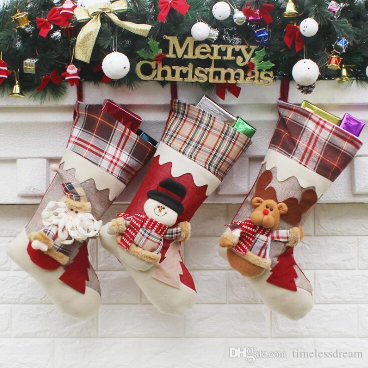 Slap Up Christmas Stockings Children Gift Bags Candy Bags Santa Claus Xmas  Tree Hanging Ornament Christmas Decoration Party Supplies Christmas ...