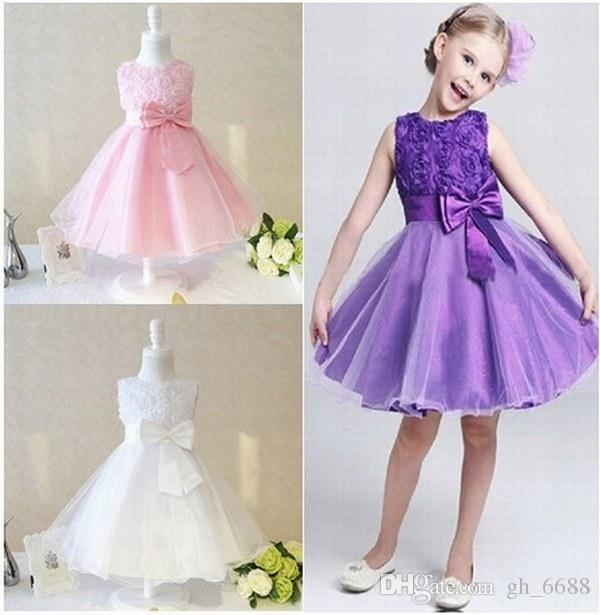 New Charming Princess Pageant flower girl dress Girls Prom Birthday Party Special Occasion Dresses kids dress