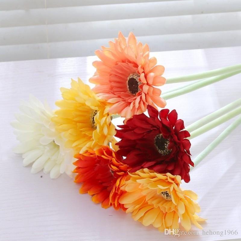 Fiore di seta artificiale per la festa di Decorazione Vivid Piccolo Bouquet Margherita simulazione falso fiori delicati 1 6LX ZZ