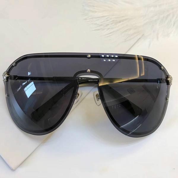Kadınlar Için 2180 Güneş Gözlüğü Marka Tasarım Çerçevesiz Çerçeve Bağlantı Lens UV400 Kaplama Mirrorr Lens Steampunk Yaz Büyük Tarzı Case Ile Comw