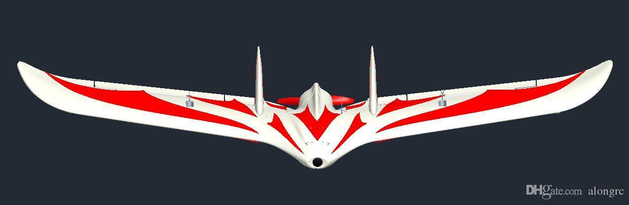 RC UÇAK Yeni C1 Chaser Kanat açıklığı 1200mm EPO Uçan Kanat FPV RC Uçak RC Uçak FLY KANAT KIT seti veya PNP seti