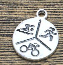 12 Boy charms tibetan silver P70