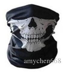 Skull Seamless Multifunction Magic Tube Clown Joker Men Skull Ghost Shield Face Mask Headband Bandana Headwear Ring Head Scarf
