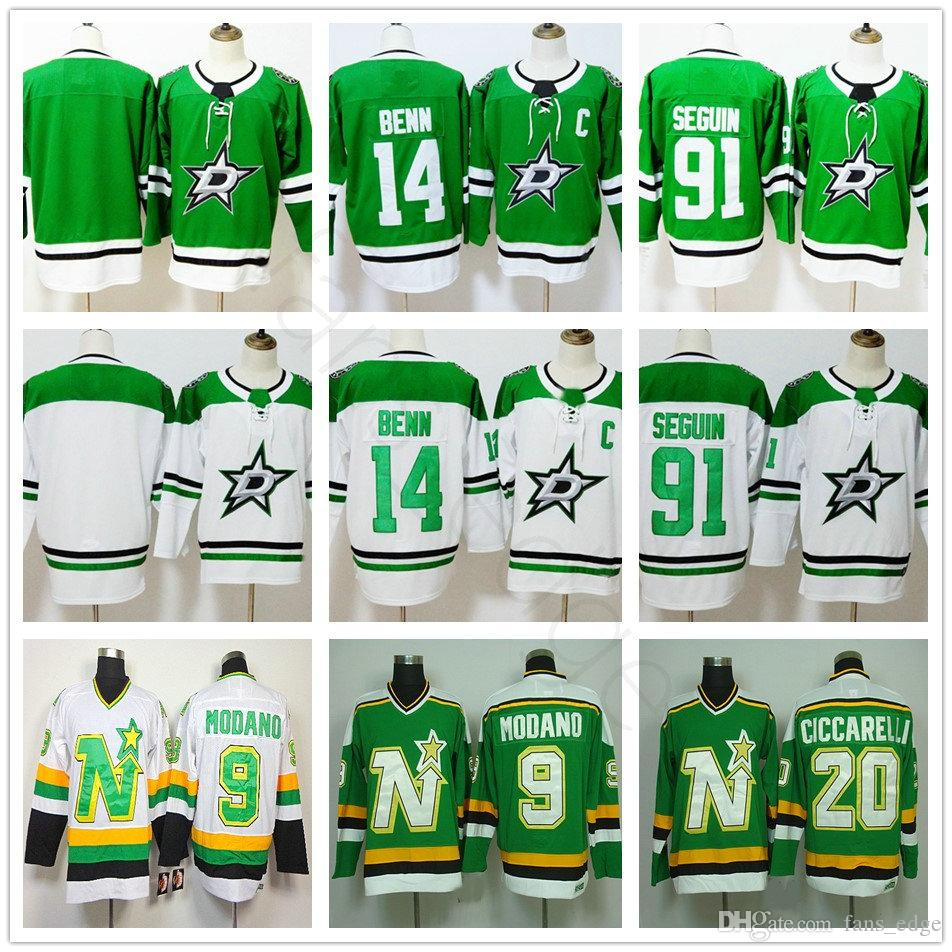 2018 New Style Dallas Stars 14 Jamie Benn Jersey Green Blank 91 Seguin Jerseys 20 Dino Ciccarelli 9 Mike Modano Hockey Jerseys