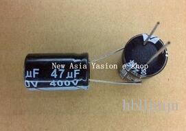 10 sztuk 400 V 47uf 16 * 22mm 47uf 400V 16 * 22 Kondensator elektrolityczny
