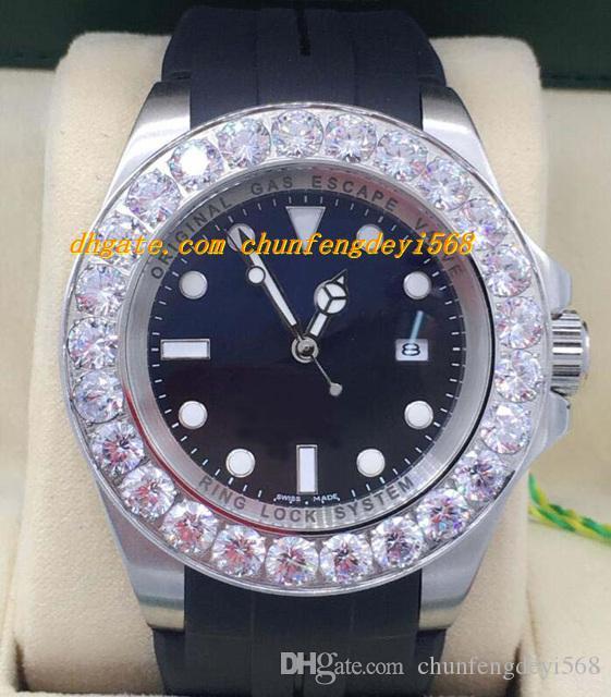 Luksusowe zegarki 2 Styl Mens Brand New Custom 44mm Oryginalne Diamond Watch Automatyczne Moda Zegarek Męski Zegarek