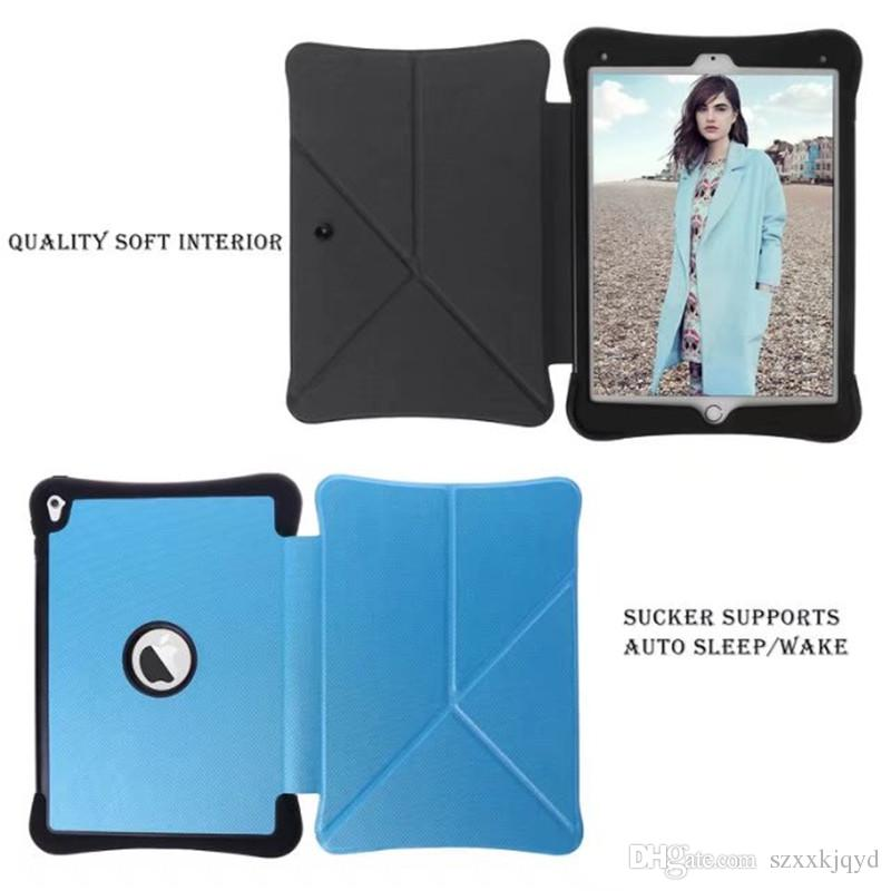 Ultra Slim Diamond Grain Transformers Magnetic Smart Sleep Wake Flip Stand PU Leather Cover Case For ipad air 2 6 Tablet