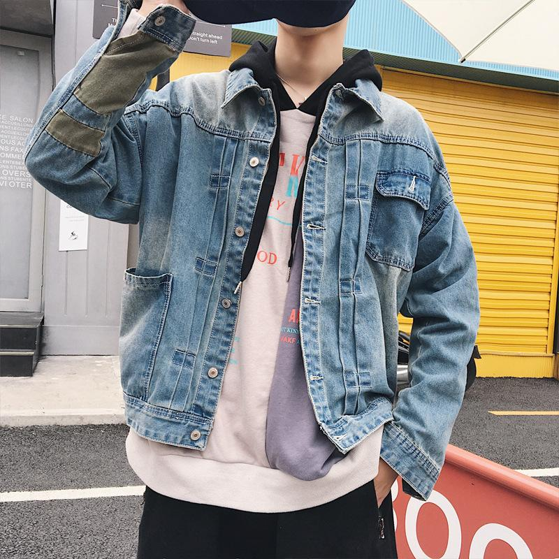 445e96618c827 2018 New Designer Distressed Baggy Denim Jacket Men Ripped Jeans Jacket  Coat Male Casual Coats Cotton Plus Size 5XL Mens Fall Vest Men In Jacket  From ...