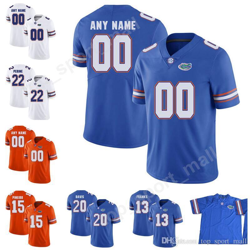 Youth Man Florida Gators Football College 13 Feleipe Franks Jerseys 22 Lamical Perine 24 Mark Thompson Malik Davis Make Custom