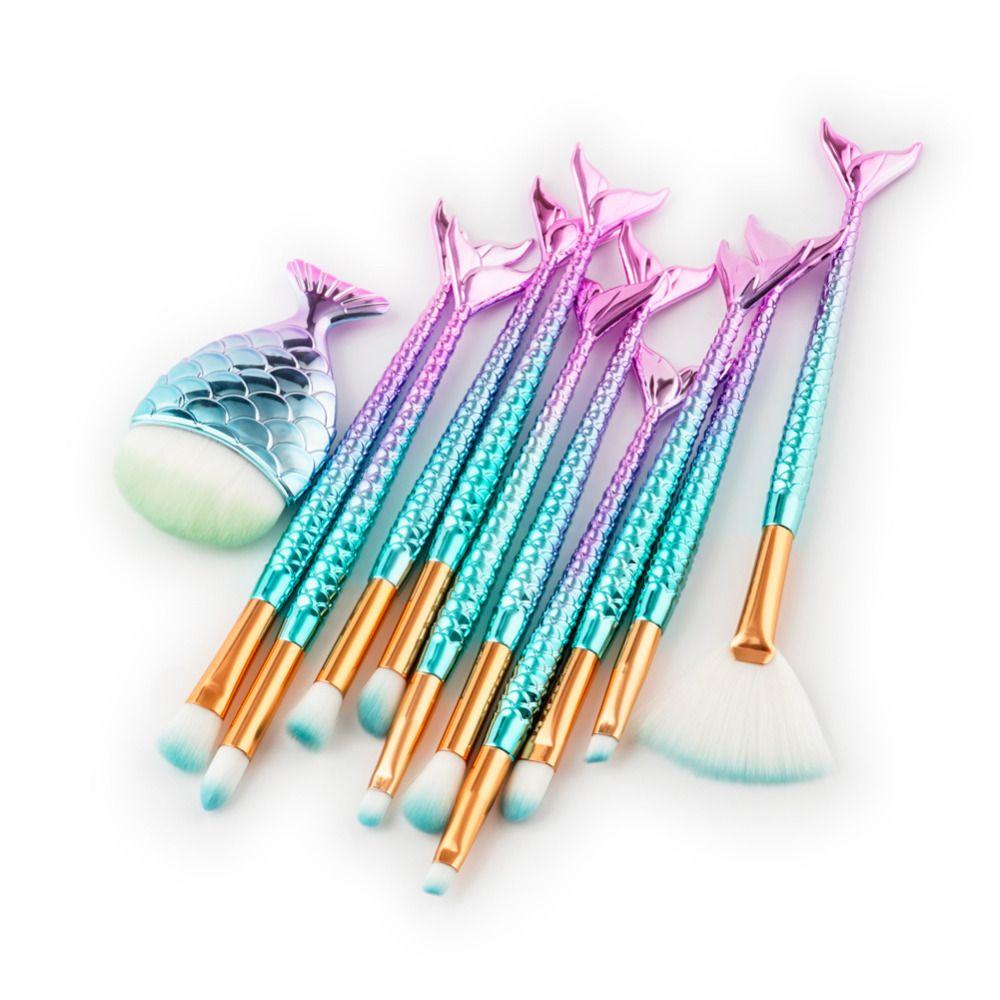 Unicorn Makeup Brushes pincel de maquiagem Cosmetics Foundation Powder Eyeshadow Eyelashes Contour Fishtail Make Up Brush Tools