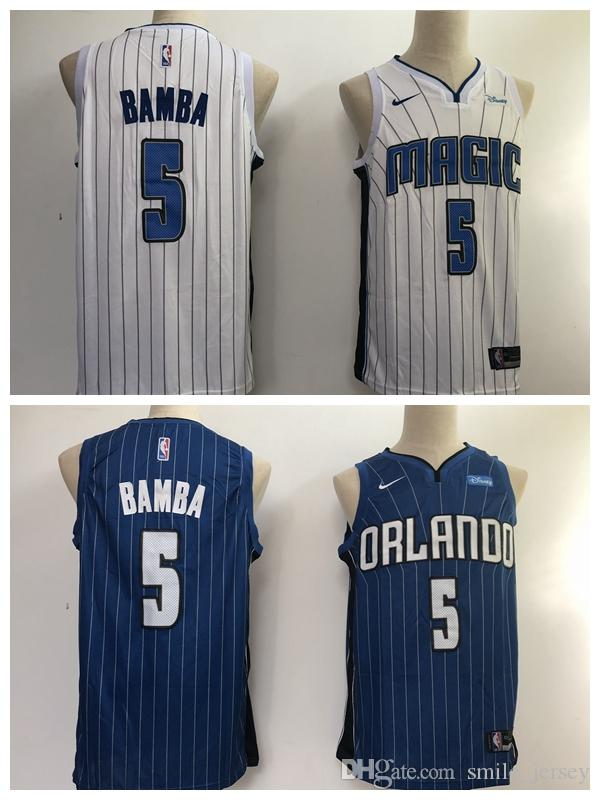 brand new ac382 7c2d3 2018 2019 New Mens 5 Mohamed Bamba Orlando Jersey Magic Basketball Jerseys  Stitched Embroidery Mesh Dense AU Mohamed Bamba Basketball Jerseys From ...