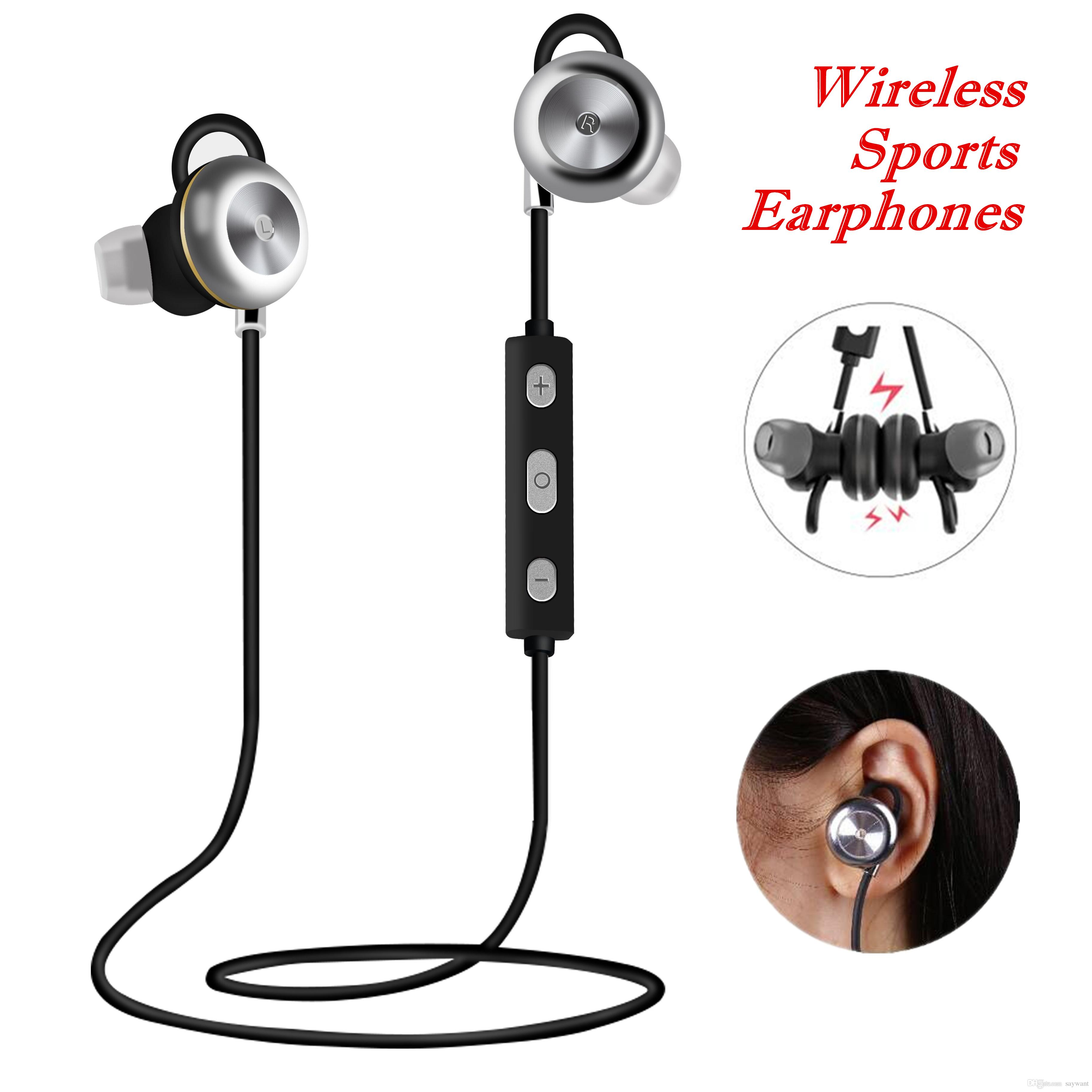 CSR 4.1 سماعات الرياضة اللاسلكية X9 Neckband المحمولة إلغاء الضوضاء سماعات ستيريو سماعة في الأذن ميكروفون تشغيل بلوتوث 4.0