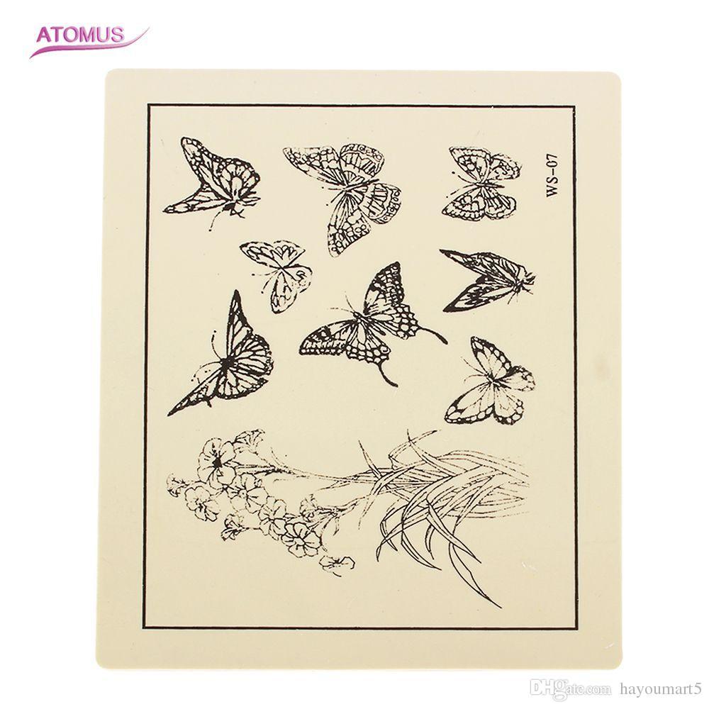 문신 기계 용 문신 연습 스킨 총 니들 잉크 팁 그립 키트 6 가지 스타일 선택 가능