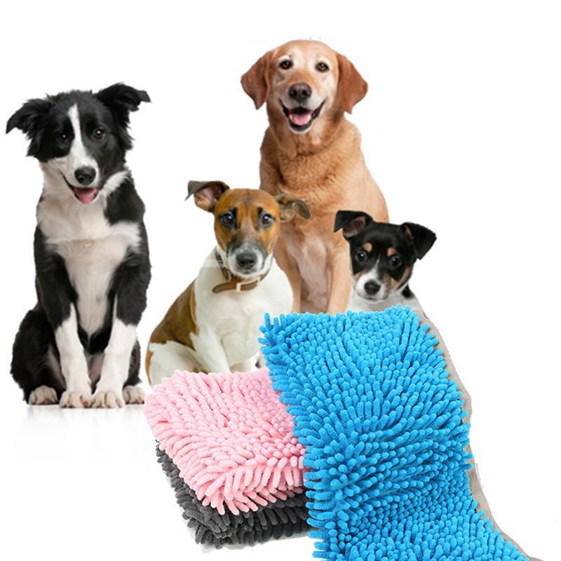 Pet cat dog  Fiber chenille towel thickening cat dog bath pet Cleaning mat cushion accessorries