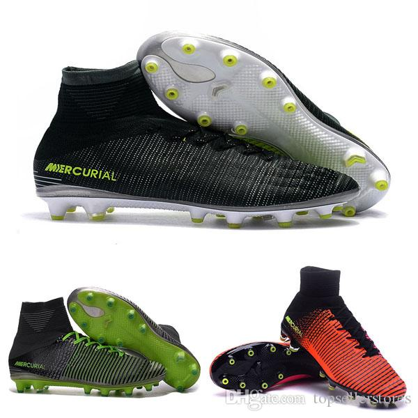 meet daa6c 1839c New Mercurial Superfly V AG Men Boots High Mercurials Superflys V CR7 AG  Assassin 11 Shoes Size 39 45 Grey Boots Brown Ankle Boots From ...