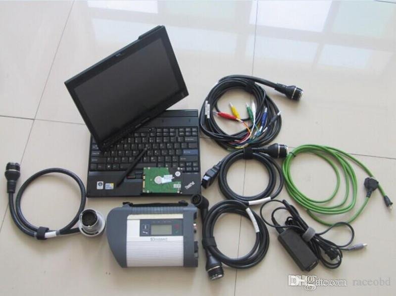 MB Estrela C4 2020.12 HDD 320GB Windows7 com laptop x200t Touch Screen Conjunto completo Cabos Diagnose para 12V 24V