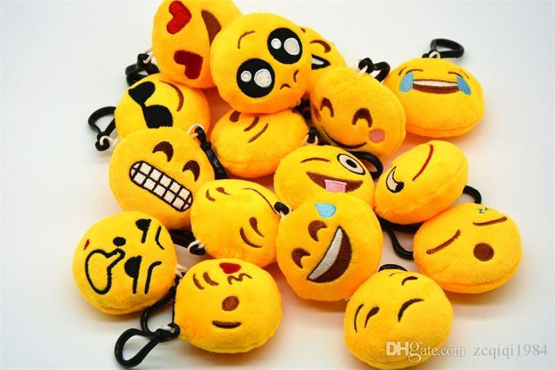 espressione del viso keychains Emoticon carino Amusing chiave giocattoli catena peluche portachiavi per il regalo unisex