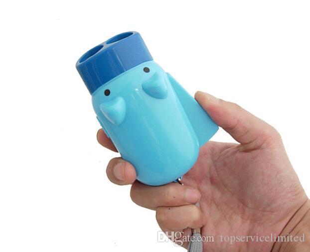 50pcs pressão de mão recarregável mini lanterna porco crianças lanterna de bolso iluminação brinquedo projeto piggy auto-recarga com lâmpada 2 Lanternas led