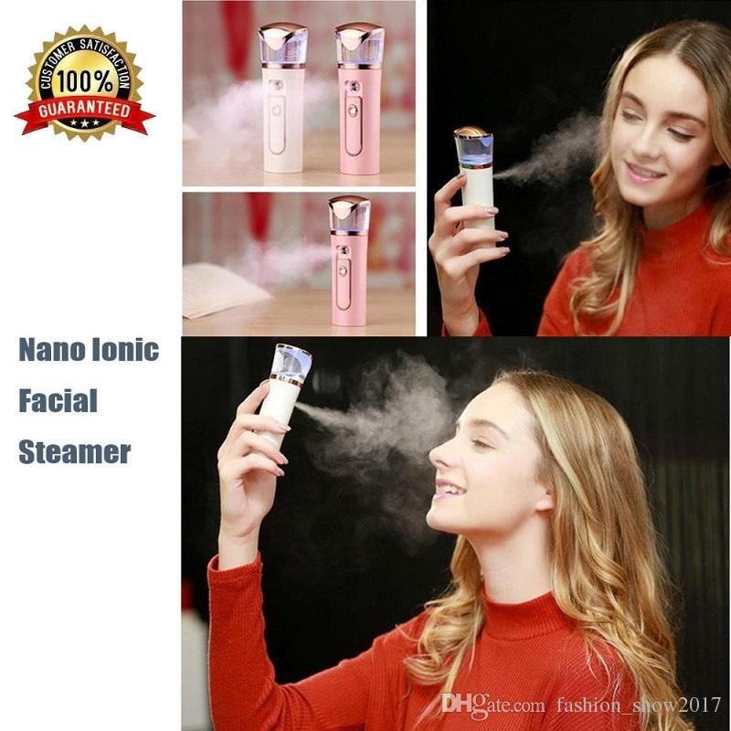 Portable Nano Facial Moisturizing Handy Atomization Mister Humidifier Facial Cleanser Power Bank Mist Spray Face Skin Care Tools