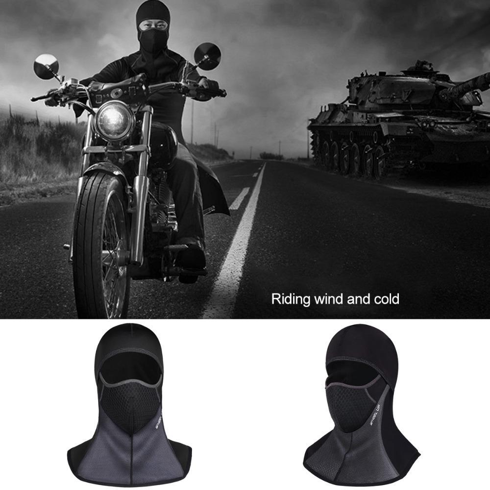 Balaclava moto coupe-vent / masque facial cycliste sous la laine de ski thermique de casque en plein air