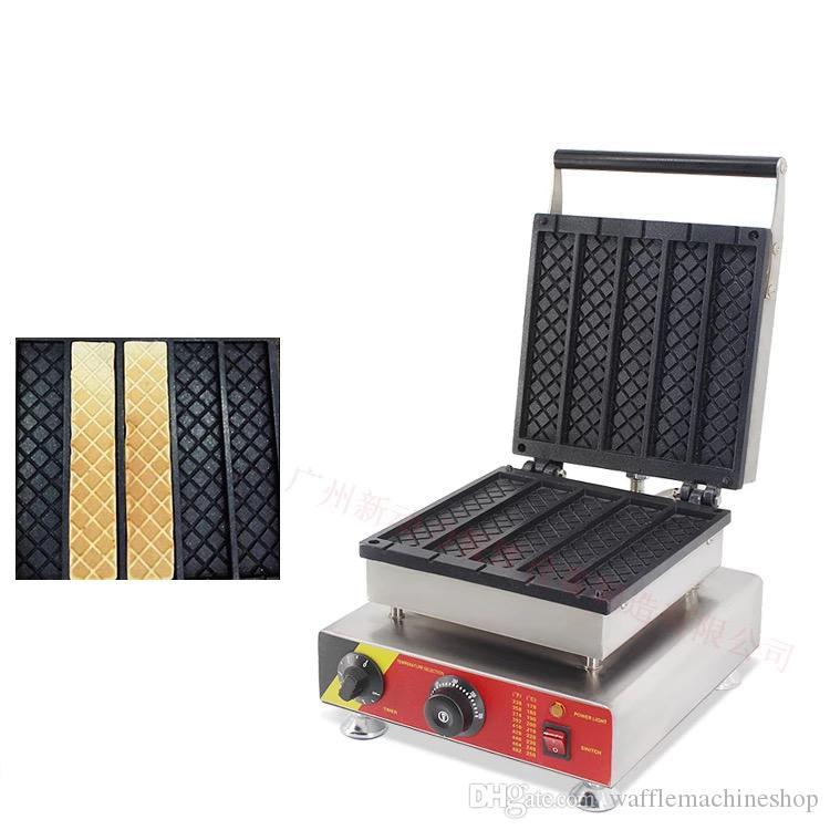 NP-515 Ticari Meydanı Waffle Yapma Makinesi Elektrikli Waffle Makinesi Bar Şekilli Yapışmaz Kaplama Waffle Fırın 110 V 220 V