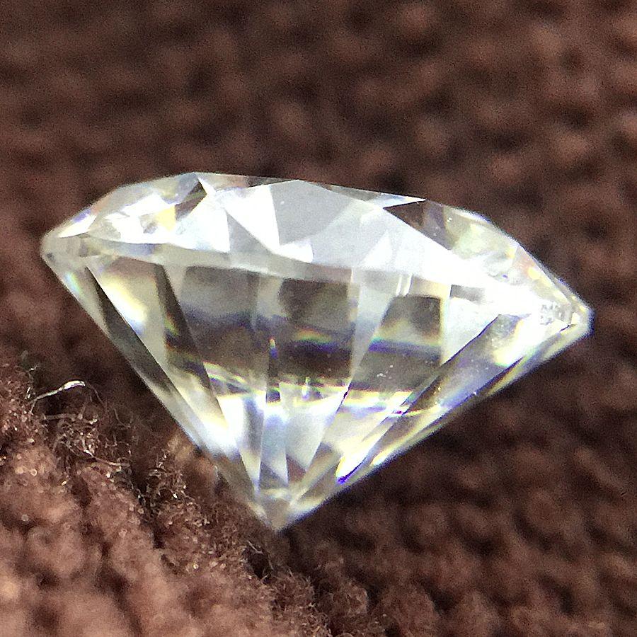 جولة بريليانت قص 2ct قيراط 8.0 مم ف لون مويسانيتي حجر فضفاض VVS1 ممتاز قطع اختبار الصف مختبر إيجابي الماس