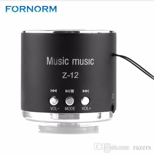 Fornorm Cylinder Portable Speaker FM Radio Z12 USB Micro SD TF Card Mp3 Mini Computer Portable Speaker