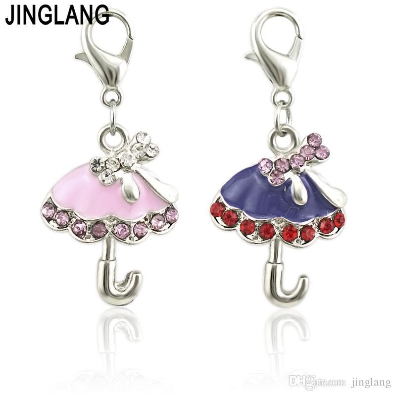 JINGLANG New Drop The umbrella Charms Zinc Alloy Pendant for Diy Necklaces Bracelets Jewelry Accessories