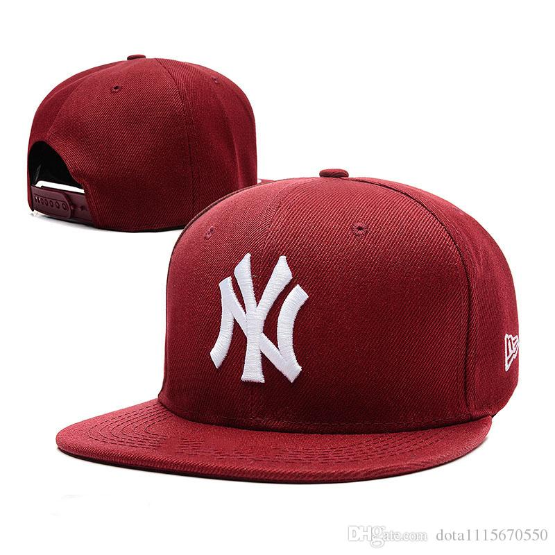 2018 New Style NY High-quality 100% Cotton Flat Caps Embroidered hip hop Multicolor Adjustable outdoors Casual Baseball Snapbacks Sport Hats
