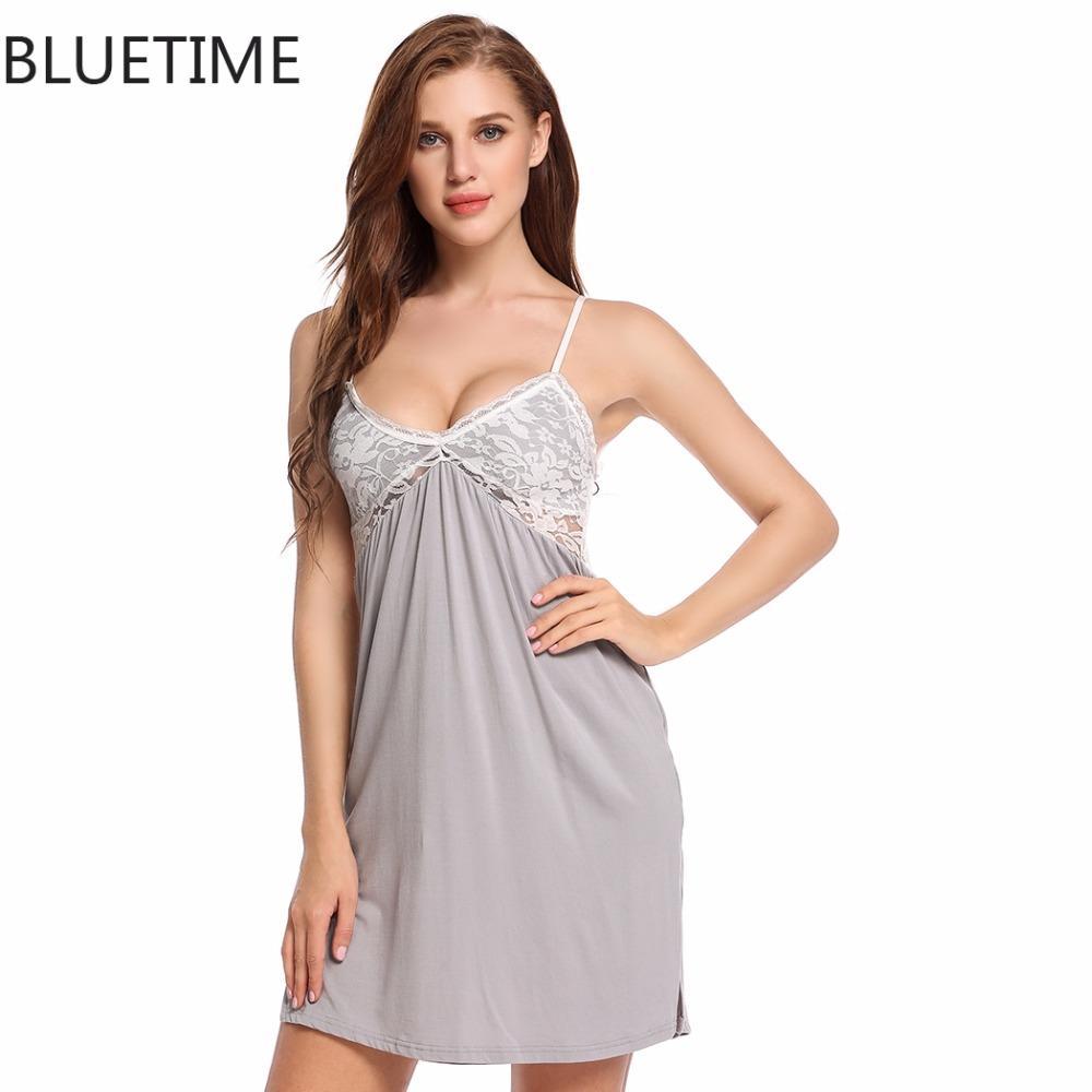 2020 Sexy Women Summer Nightgown Night Dress Nightwear Lady