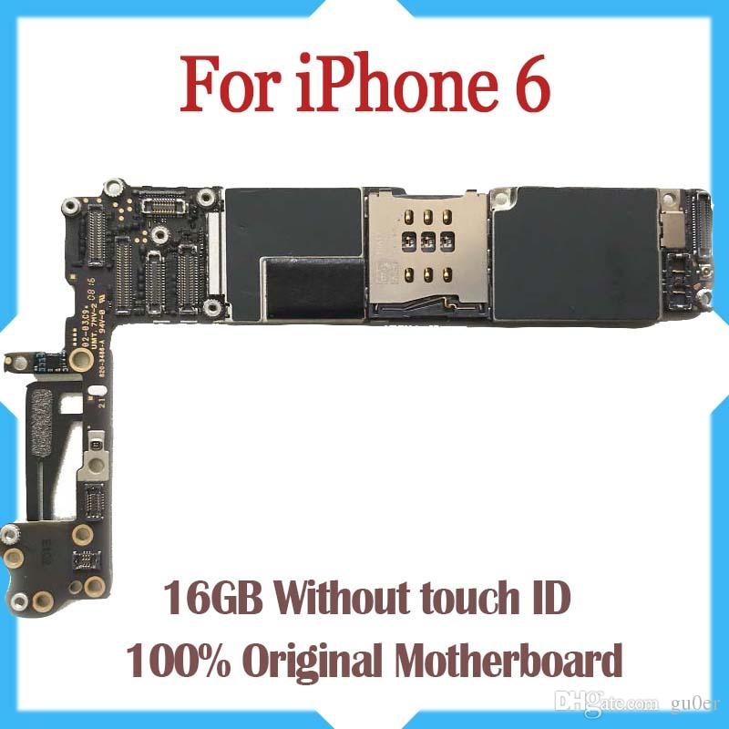Tested Good Working Original Factory Unlocked 16GB Motherboard for iPhone 6 4.7inch mainboard Without Touch ID Free Shipping