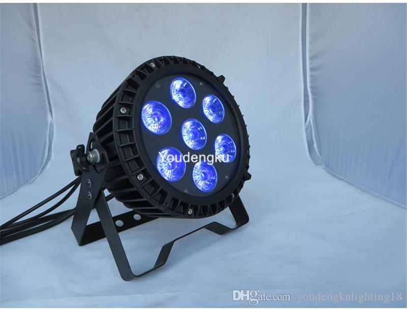 6 pieces LEDs Stage Par Can Light 7*18W 6 in 1 Dj Lights outdoor led dmx par 7x18w led par rgbwa uv