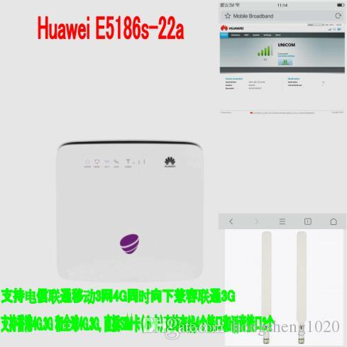 Huawei e5186 E5186s-22a 3g wifi dongle hotspot Móvel 4g cpe além de 2 pcs 4g antena SMA
