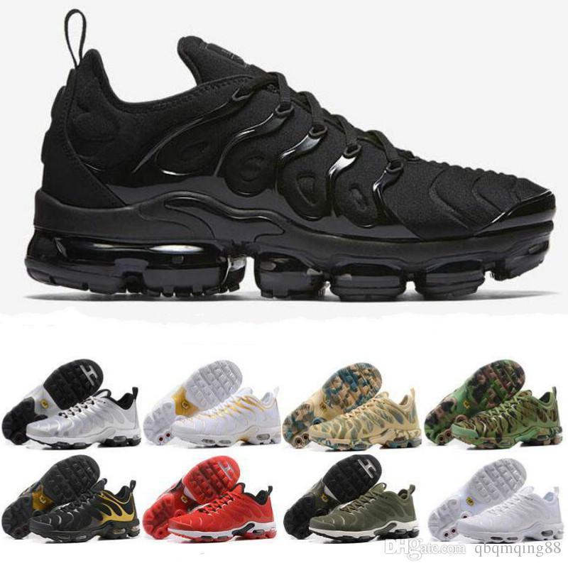 2021 New Sports Shoes TN Plus Run Shoe Triple Black Plus