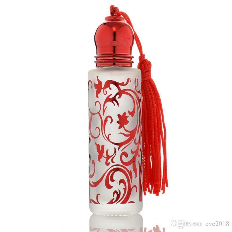Многоразового 10 мл 1/3 унции печати ретро рулон на духи стеклянные бутылки эфирного масла с роликом мяч LX1187