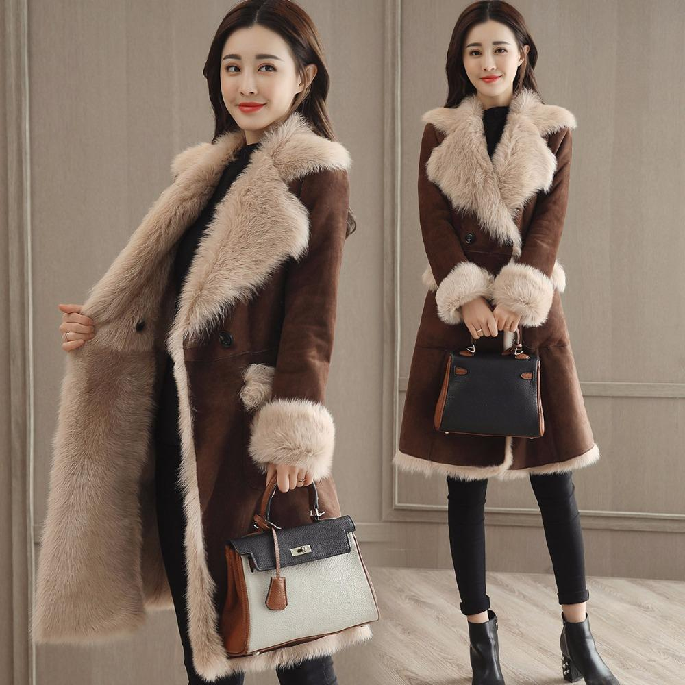 347a15c9e 2019 New Arrival 2018 Winter Women Faux Fur Sheepskin Coat Female Long  Shearling Coats Patchwork Faux Suede Leather Jackets W1508 From  Chencloth66, ...