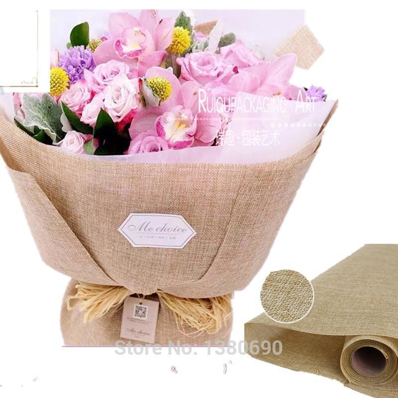 5 quintal * 48 cm Embalagem de Flores de Algodão Tecido de Linho Tecido de Fibra Têxtil Camisa de Vinho de Papel Sapatos Papel de Embrulho Material de Embalagem de Presente
