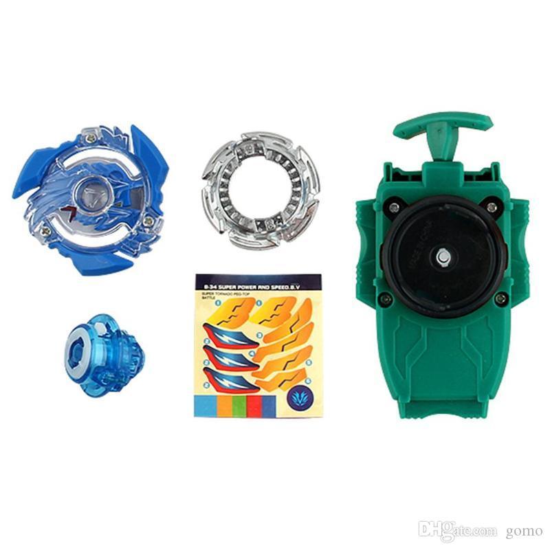 New Beyblade Burst Starter Alloy Gyroscope Beyblade Pull Wire Launcher Whipping Top Spinning Children Kids Toys Gift B36 B37
