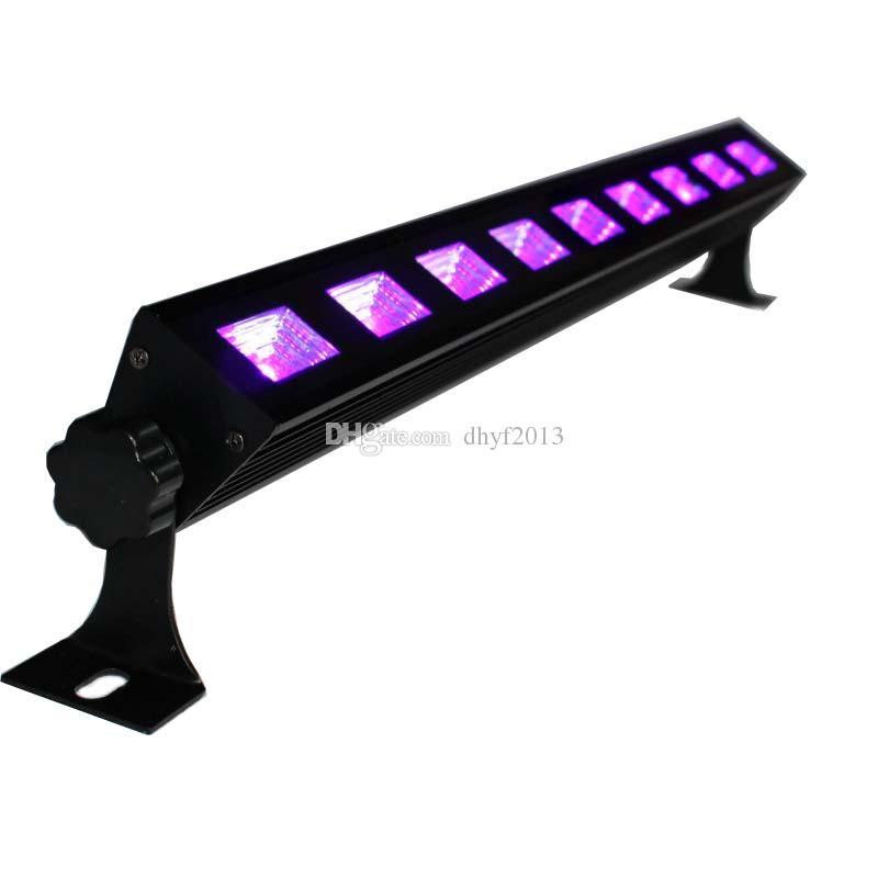 UV LED Siyah Işık Çubuğu - Süper Parlak Yüksek Çıkışlı Ultraviyole LED'ler Mutlu Noel Işıkları - 9x3W 9 LEDS Siyah Işıklar