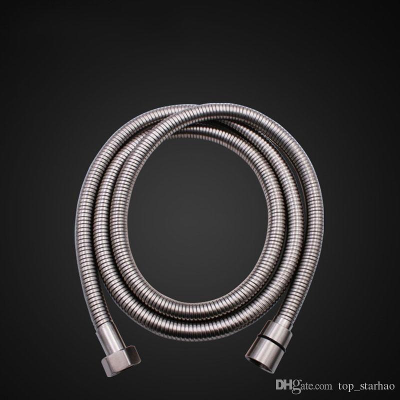 최고 품질 1.5M 유연한 스테인레스 스틸 크롬 표준 샤워 헤드 욕실 호스 파이프 무료 DHL HH9-2581