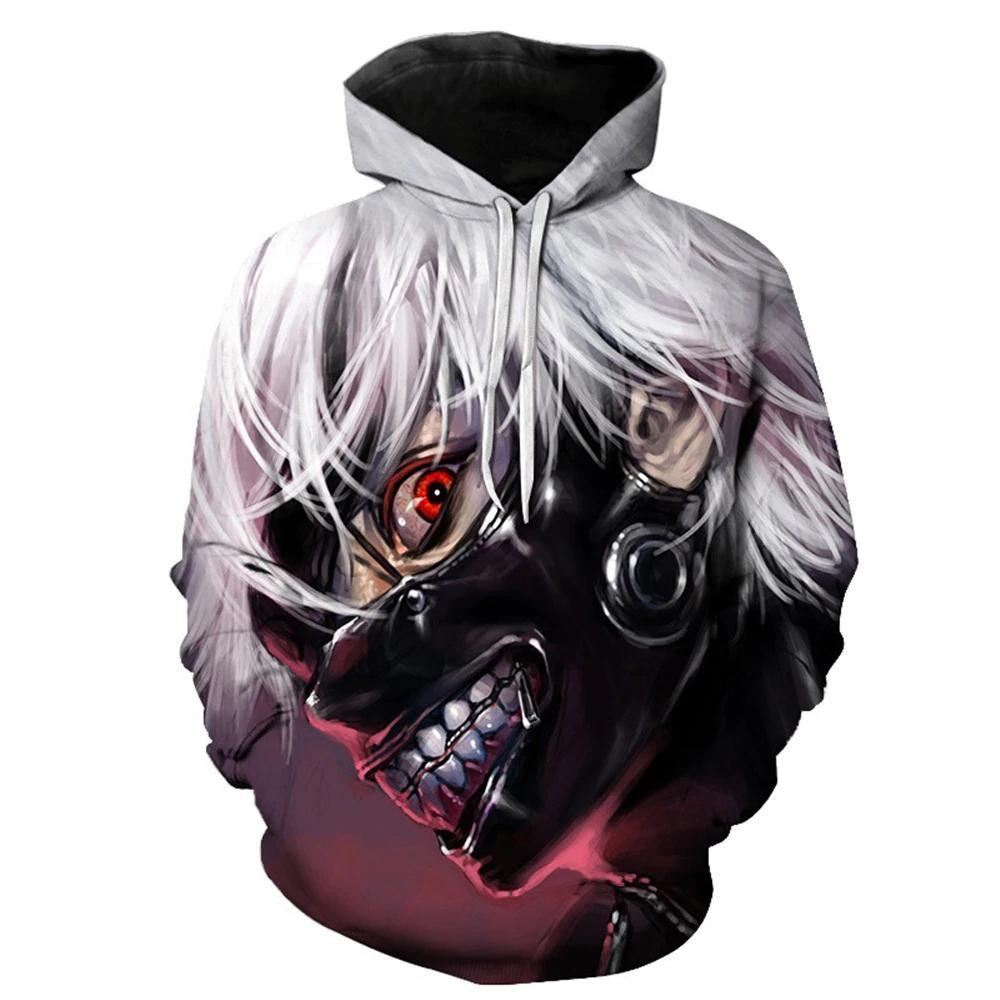 Cosplay Tokyo Ghoul Kaneki Ken Adulto Uomo donna Stampa 3D Coppia Giacca Maglione Top Cappotto Costumi di vendita caldi di Halloween 6XL