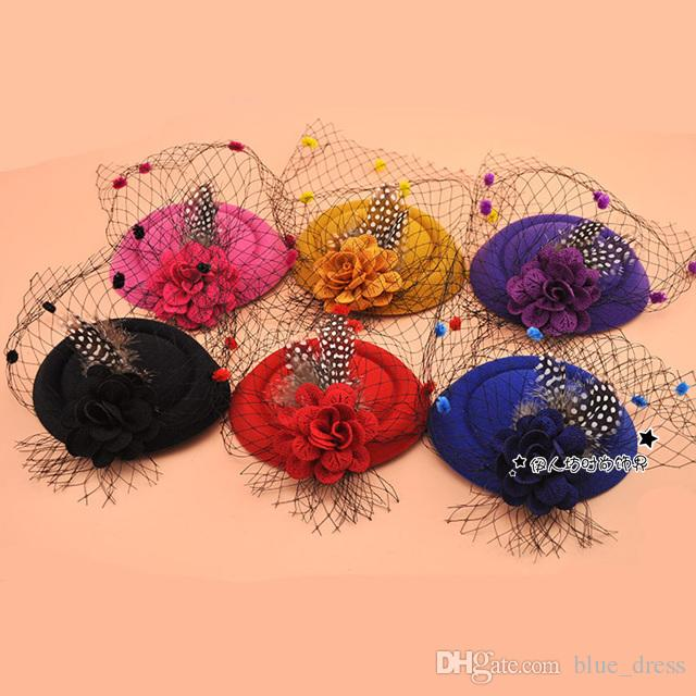 Fashion Women Hats For Wedding Party Special Occasion Formal Ladies Tulle Ladies Hats Accessories for Wholesale 2020