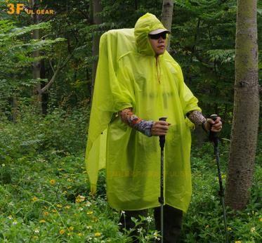 3f ul gear Impermeable multifuncional 3 en 1 Lluvia al aire libre Poncho Mochila Cubierta de lluvia Carpa impermeable Toldo para acampar