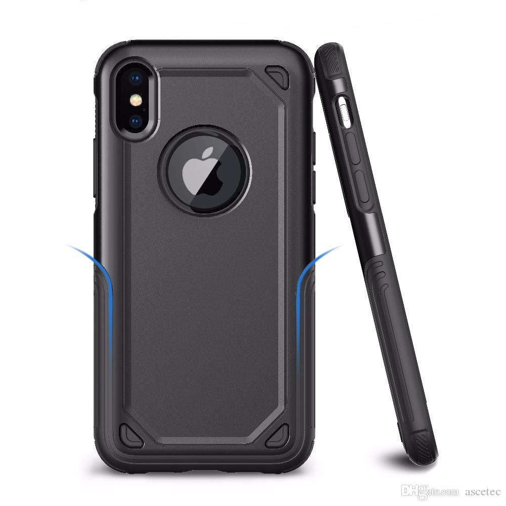 Für 11 iPhone Pro MAX X Rüstung Hybrid Fall für Samsung Galaxy Note 10 S10 Plus-Hybrid PC-TPU Abdeckung Rüstung Telefon-Kasten-rückseitige Abdeckung